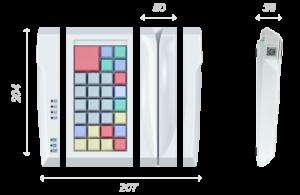 POS-клавиатура POSUA LPOS-II-032 M2 USB с ридером_1