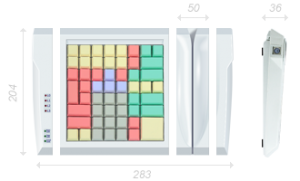 POS-клавиатура POSUA LPOS-II-064 M2 USB с ридером_1