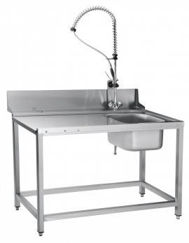 стол предмоечный abat спмп-7-4 с душем для туннельных машин мпт