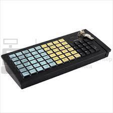 Программируемая клавиатура Posiflex KB-6600B черная c ридером магнитных карт на 1-3 дорожки, RS-232_1