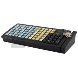 Программируемая клавиатура Posiflex KB-6600B черная c ридером магнитных карт на 1-3 дорожки, RS-232_0