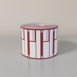 Ценники красные (1840 шт в руллоне, 27шт, в коробке, размер 38мм*85мм)_0