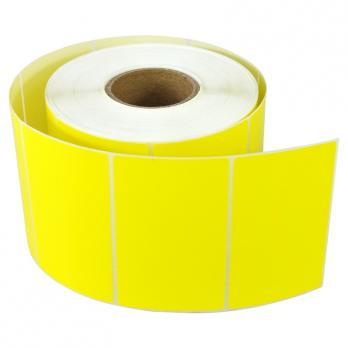 этикетки желтые 58х40 (600 эт/рул, 50 шт в ящике)
