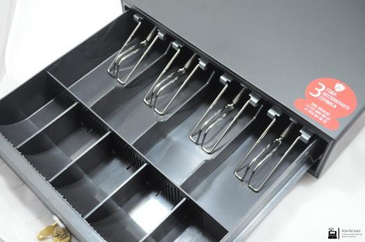 денежный ящик атол sb-330-b черный, 330*380*90, механический