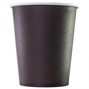 """стакан """"formacia"""" black для горячих напитков бумага 250мл (20*75шт)/1500"""