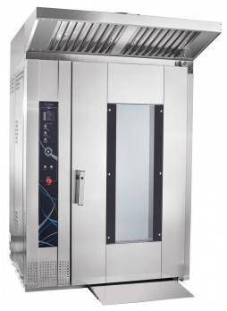 ротационный пекарский шкаф абат рпш-16-2/1м в комплекте тележка-шпилька тшг-16-01