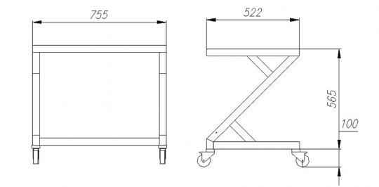 подставка для настольных витрин полюс а89 n 1,0-10