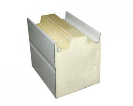 сэндвич панель из пенополиуретана (ппу, pur) стеновая 100мм.(zn-zn)